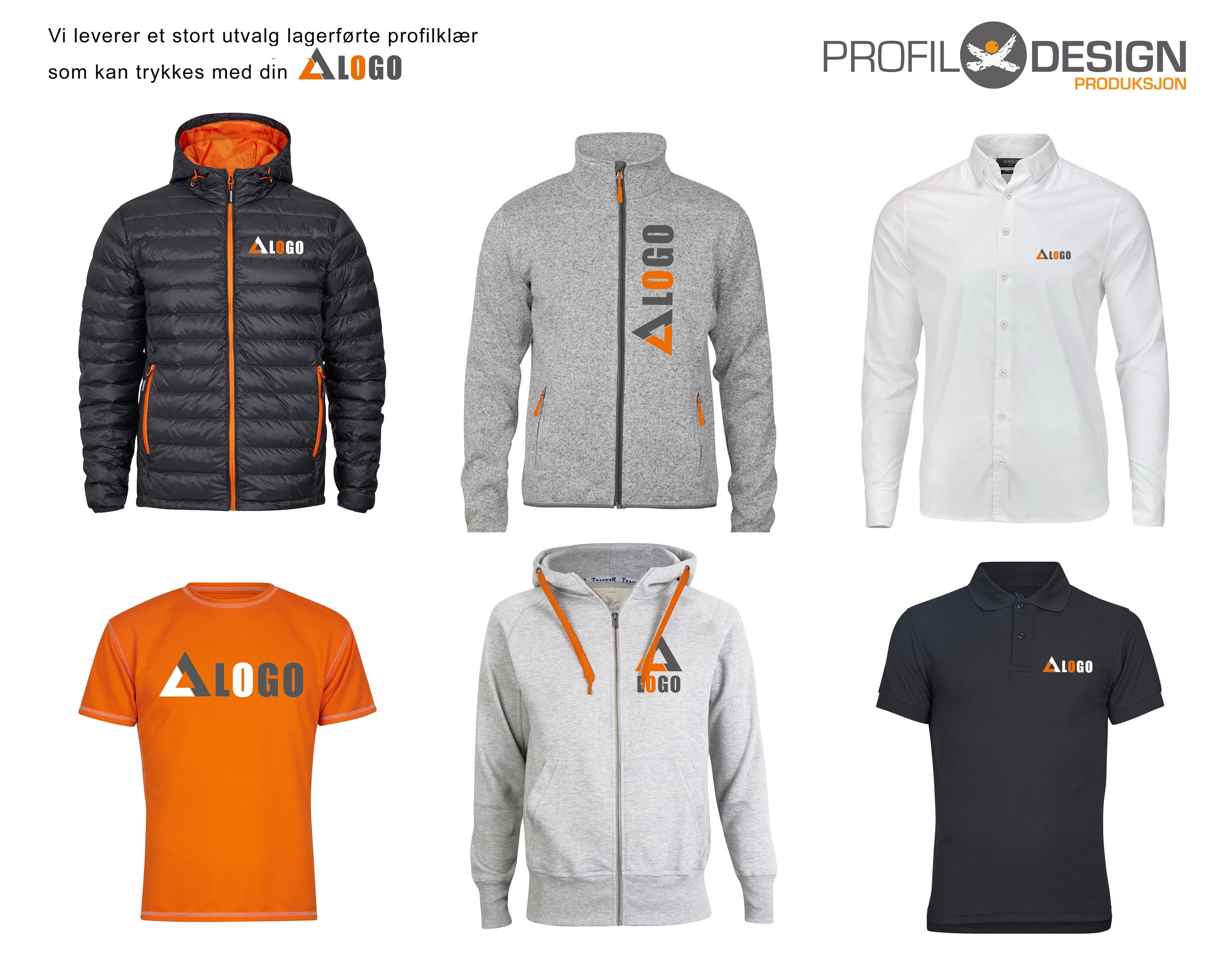 3553ff21 Vi leverer et stort utvalg profilklær som kan trykkes med din logo/ditt  motiv. Be om tilbud.